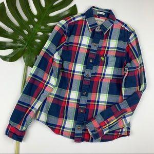 Abercrombie Kids Plaid Flannel Shirt Boys XL